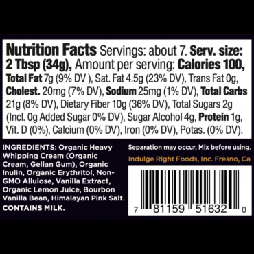 Clean Label, clean organic ingredients you can recognize.